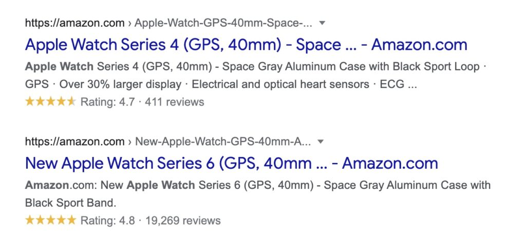 Schema Rich Snippets Example