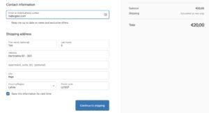 Shopify Default Checkout